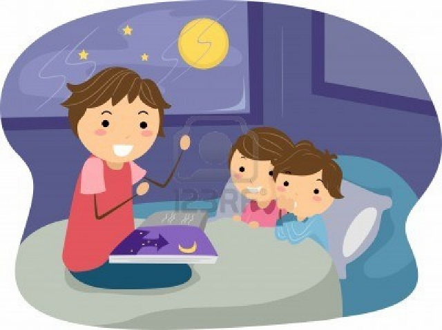 Clip Art Mother Reading To Child