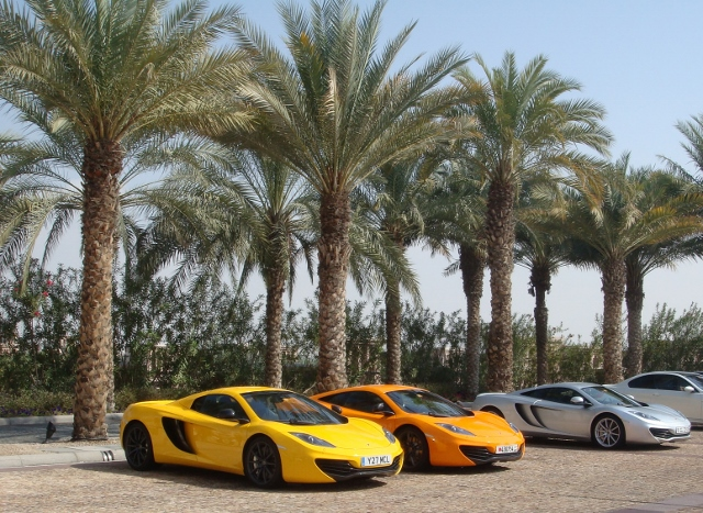 You get used to seeing supercars in Dubai. These, for example, were parked outside my hair salon the other week.