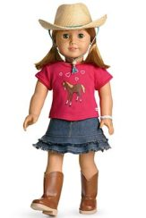 "Meet ""American Girl"". And yes, DD would like the matching outfit, too. Saints preserve me."