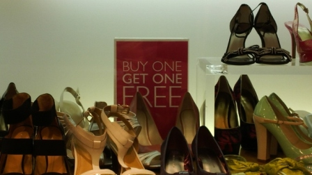 Not the best offer in a shoe shop!