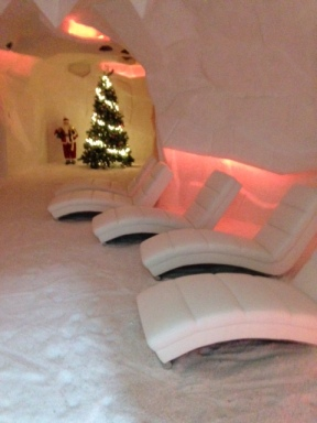 Inside the Salt Cave: it's a bit like Santa's Grotto