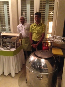 Chef Krishna with his tandoori oven