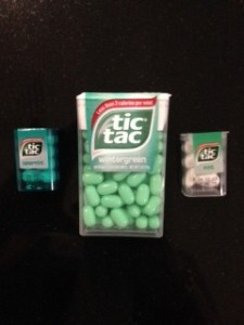 DH brought these tiny Tic Tac boxes back from Barcelona