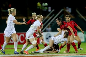 Grown women ripping into each other. Can't think why I never played rugby [Pic: www.thenational.ae]